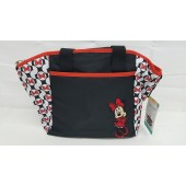 Disney Baby Minnie Mouse 5-in-1 Diaper Bag Tote Set Black Red