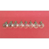8 Vintage Glass Clear Round Balls for Chandelier or Lamp
