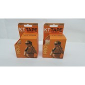 KT TAPE PRO Synthetic Elastic Kinesiology 20 Pre-Cut 10-Inch Strips, Stealth Beige (2-Pack)