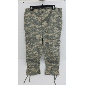US Army Issue ACU Camo Hot Weather BDU Combat Pants Large Short