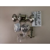 NEW Weslock Impresa 00610ININSL20 Satin Nickel Privacy Knobset