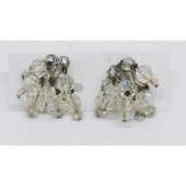 Vintage Clear Crystal Clip On Earrings