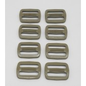 "ITW NEXUS Triglide Strap Adjuster "" Coyote Brown 1 Inch Lot of Eight"