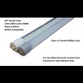 G13 LED 2Ft Tube Light Bulb T8  12W 4500K Natural White Ballast Compatible