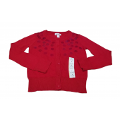 Cat & Jack Girls Red Sequin Cardigan Sweater Small 6/6X