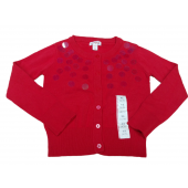 Cat & Jack Girls Red Sequin Cardigan Sweater Extra Small 4/5