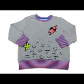 Cat & Jack Toddler  Girls Sweatshirt Gray & Pink Size 18 Months