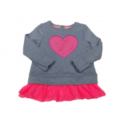 Cat & Jack Girl's Pink/Gray Skirted Top Pink Heart Size 3T