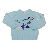 Cat & Jack Sweater Ice Skating Dinosaur Size 12 Months