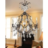 World Imports 2616-89 Timeless Elegance 6-Light Crystal Chandelier Bronze