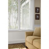 "Better Homes and Gardens 2"" Faux-Wood Window Blind, White 34 x 72"