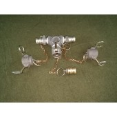 """NEW PT Coupling 1"""" T Assembly Alum Cam & Groove 10V 10B HBB11 MS27028-5 MS27026 MS27022-5"""