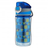 Bubba 12oz Flo Plastic Insulated Water Bottle Blue/Green
