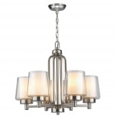 World Imports WI60997 Renee 6-Light Chandelier Brushed Nickel