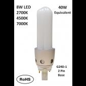 SeeSmart G24D-1 LED Bulb Lamp  8W  2700K 4500K 7000K CFL Retrofit 2-Pack