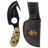 Mossberg Fixed Blade Camping Skinning Knife with Gut Hook Camouflage Camo Handle