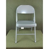 4 New KI Krueger Inc. 101 Gray Steel Folding Chairs Unupholstered