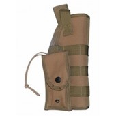 MOLLE Tactical Holster Tan w Pouch Fits BERETTA 92F or 45 ACP 1911